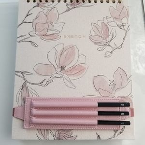 New sketchbook with floral cover